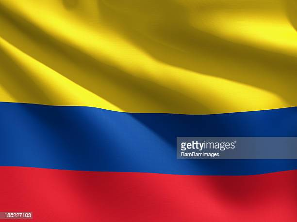 close up flag - colombia - colombia stock pictures, royalty-free photos & images