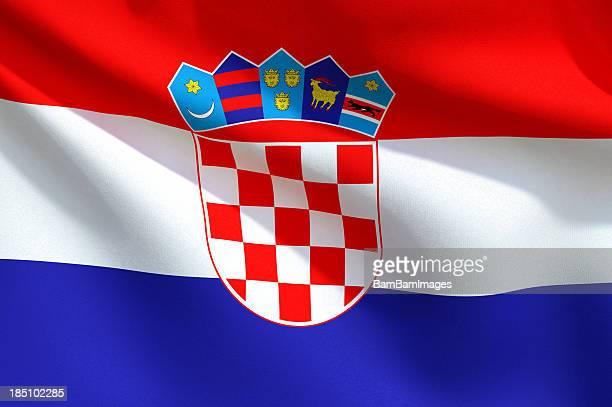 Close Up Flag - Croatia