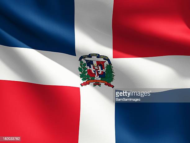 Close Up Flag - Dominican Republic