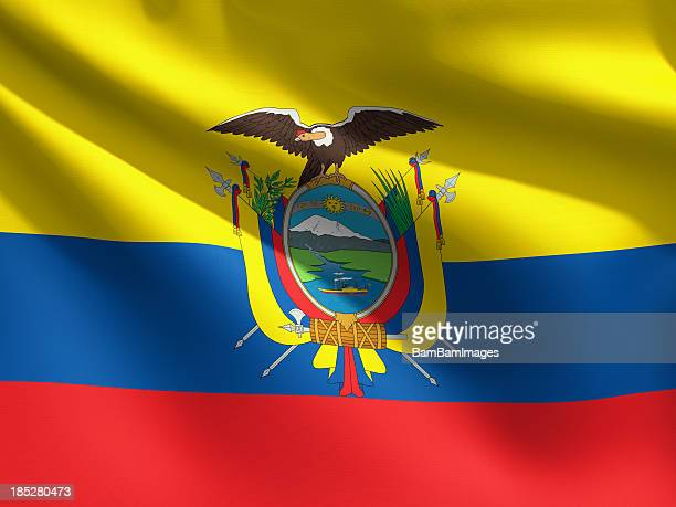 close up flag - ecuador - ecuador stock pictures, royalty-free photos & images