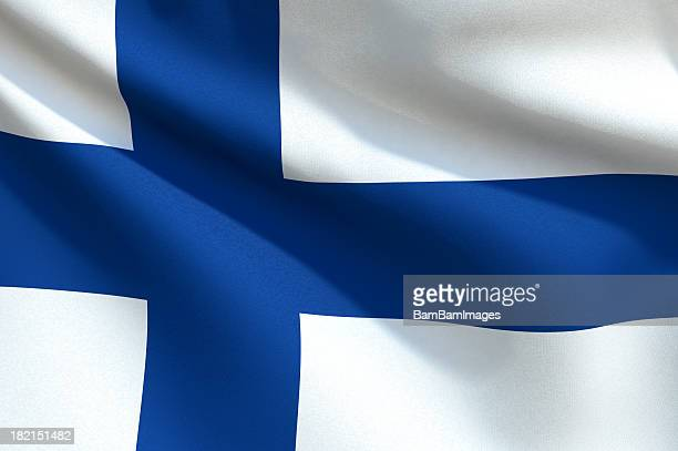 Close up Flag - Finland