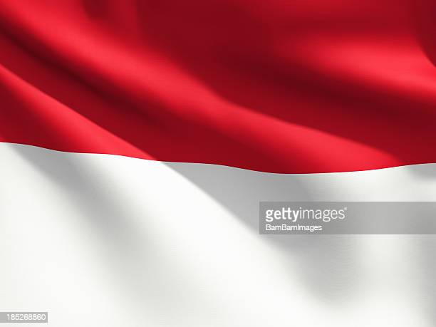 close up flag - indonesia - indonesia flag stock photos and pictures