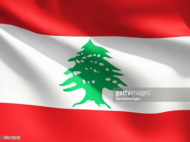 レバノン国旗のクローズアップ
