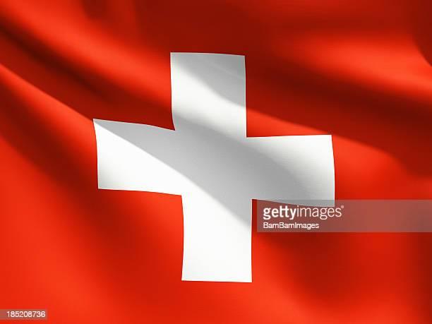 Nahaufnahme Flagge der Schweiz