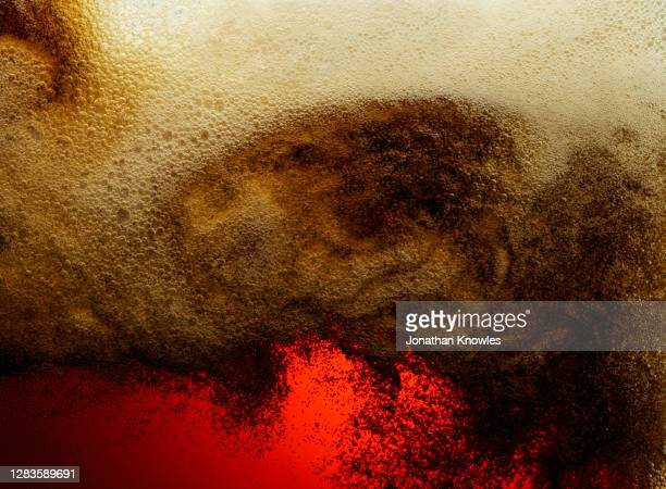 close up foamy beer head - empty stock pictures, royalty-free photos & images