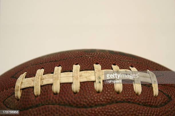 close up football lace