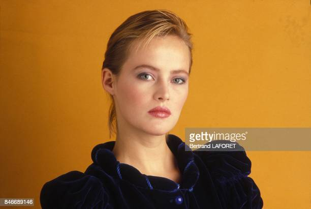 Close up Gabrielle Lazure actrice canadienne le 12 decembre 1982 a Paris France