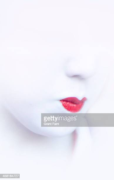 Close up geisha's lips
