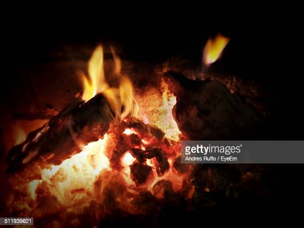 Close up image of a camp fire