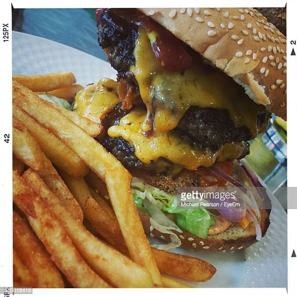 Close up image of fast food