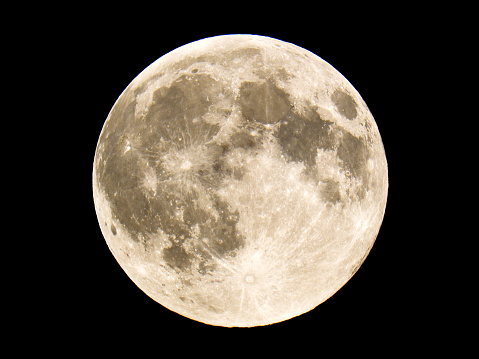 Close up image of full moon as seen in the Northern Hemisphere - gettyimageskorea