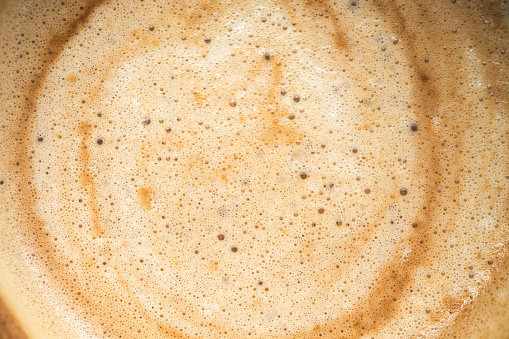 Close up image of hot coffee in white muck 915189946