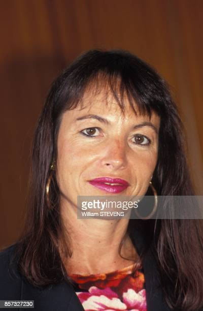 Close up Laure Adler directrice des programmes culturels de France 2 le 14 septembre 1992 a Paris France