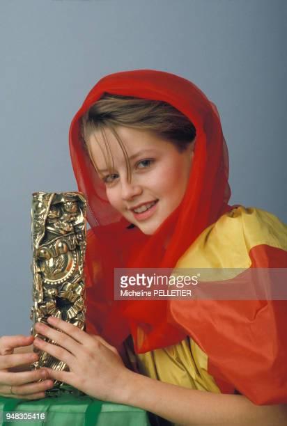 Close up Laure Marsac actrice et César du meilleur espoir féminin pour le film 'La Pirate' de Jacques Doillon le 9 février 1985 à Paris France