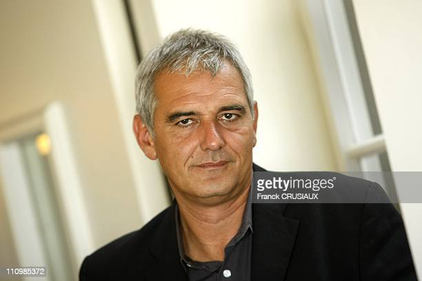 Close up Laurent Cantet director during the premiere of her film 'Entre les murs ' Palme Golden at festival of Cannes in 2008 in Lille France on...