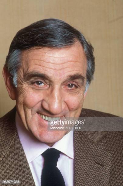 Close up Lino Ventura acteur le 13 avril 1984 à Paris France