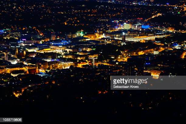 Close up, Long Exposure, Stuttgart at Night, Germany