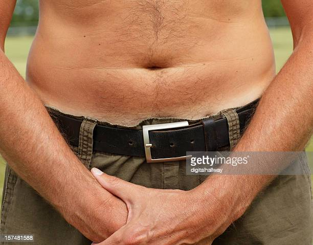close up male stomach - male belly button stock photos and pictures