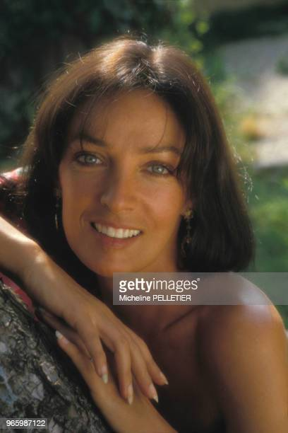 Close up Marie Laforêt le 30 août 1984 en France.