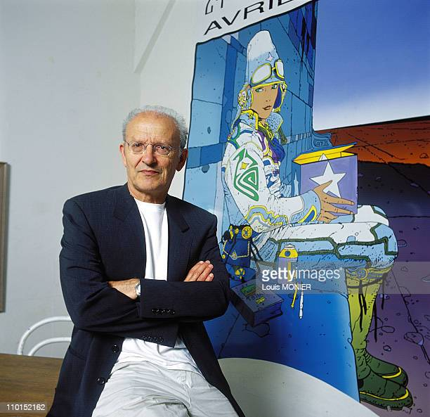 Close up Moebius comic's author in France on September 17 1999