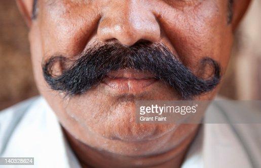 Close Up Moustache Stock Photo