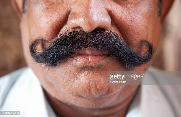 Close up moustache.