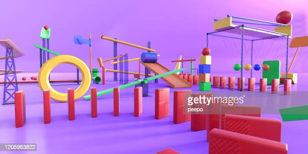 close up multi-coloured complex over-engineered contraption made from various components - scientific experiment stock pictures, royalty-free photos & images
