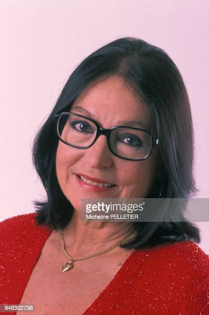 Close up Nana Mouskouri circa 1980 en France