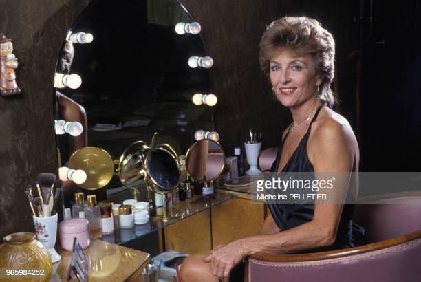 Close up Nicole Courcel actrice le 17 octobre 1984 en France