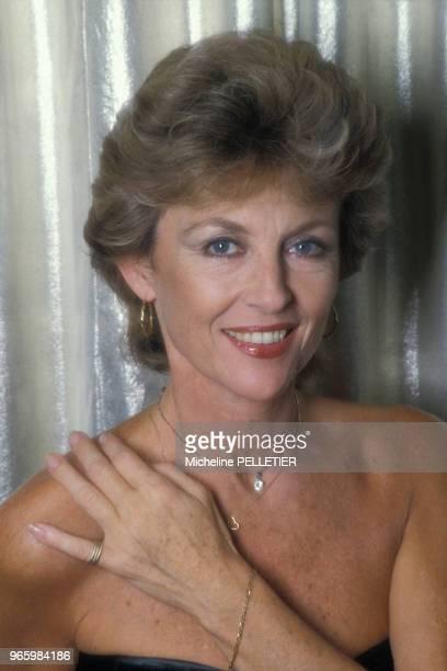 Close up Nicole Courcel actrice le 17 octobre 1984 à Paris France