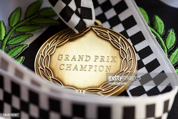 A close up of a award from the Grand Prix championship