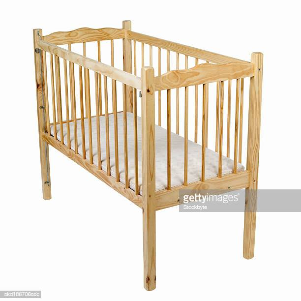 Close up of a baby cot