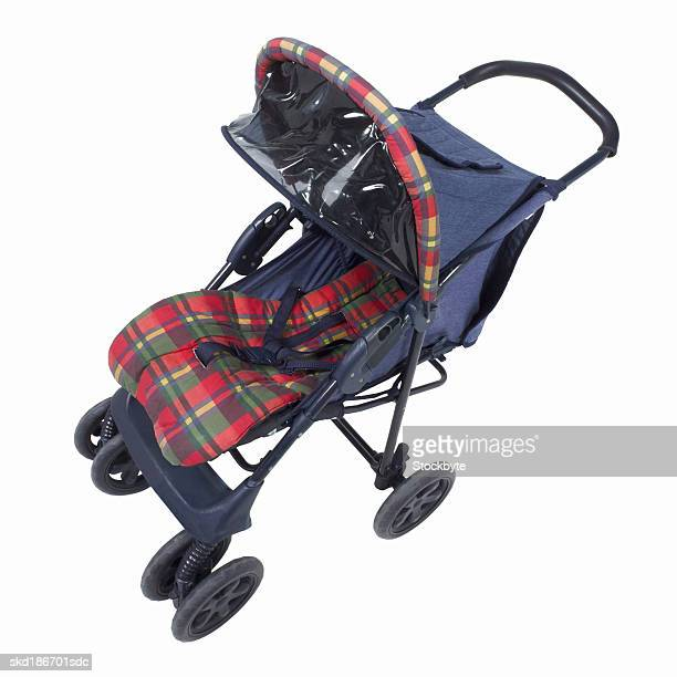 Close up of a baby pushchair
