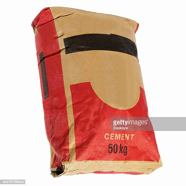 close up of a bag of cement - cement stock pictures, royalty-free photos & images