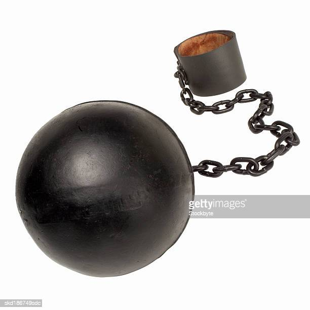 Close up of a ball and chain