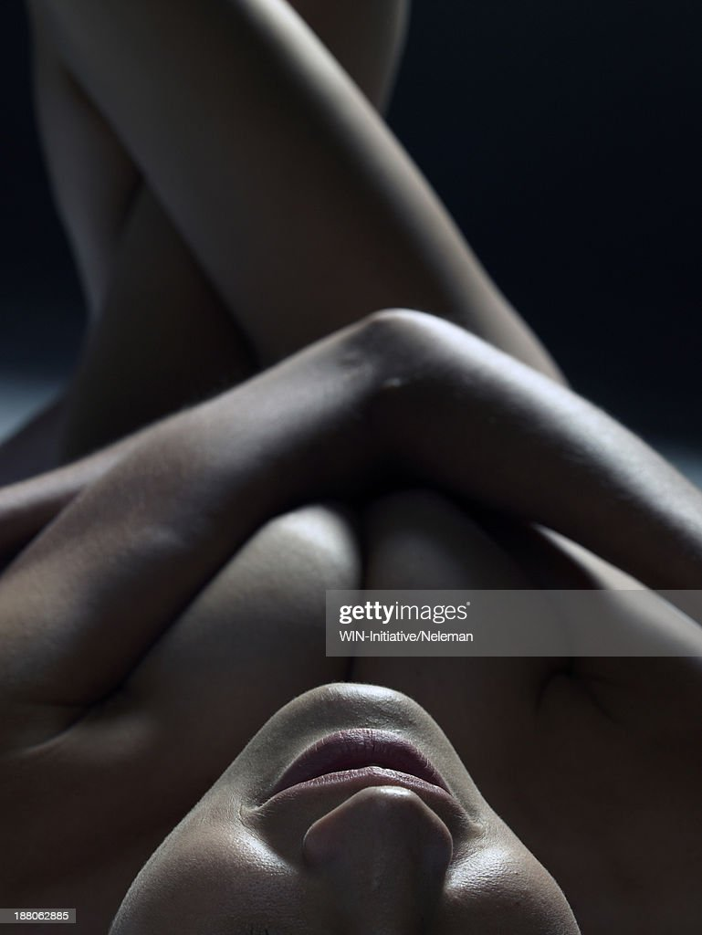 Closeup photographs of nude women