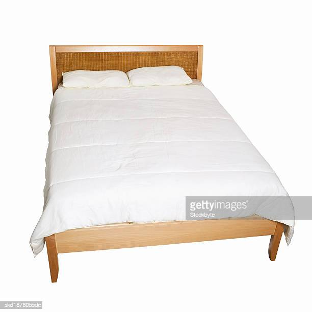 Close up of a bed