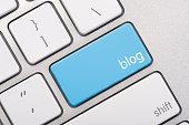 Close up of a blog key