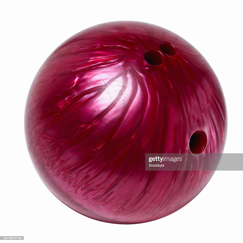 Close Up Of A Bowling Ball Stock Photo Getty Images