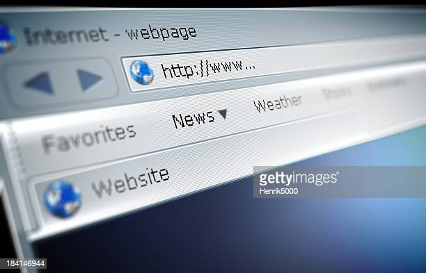 Close up of a broswer address bar