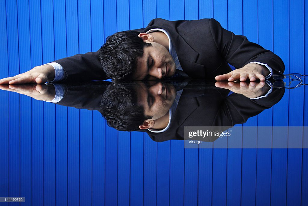 Close up of a business man in a room : Stock Photo