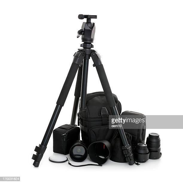 Close up of a camera set