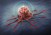 Close up of a cancer cell - 3d illustration