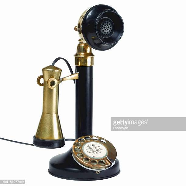 Close up of a candlestick telephone