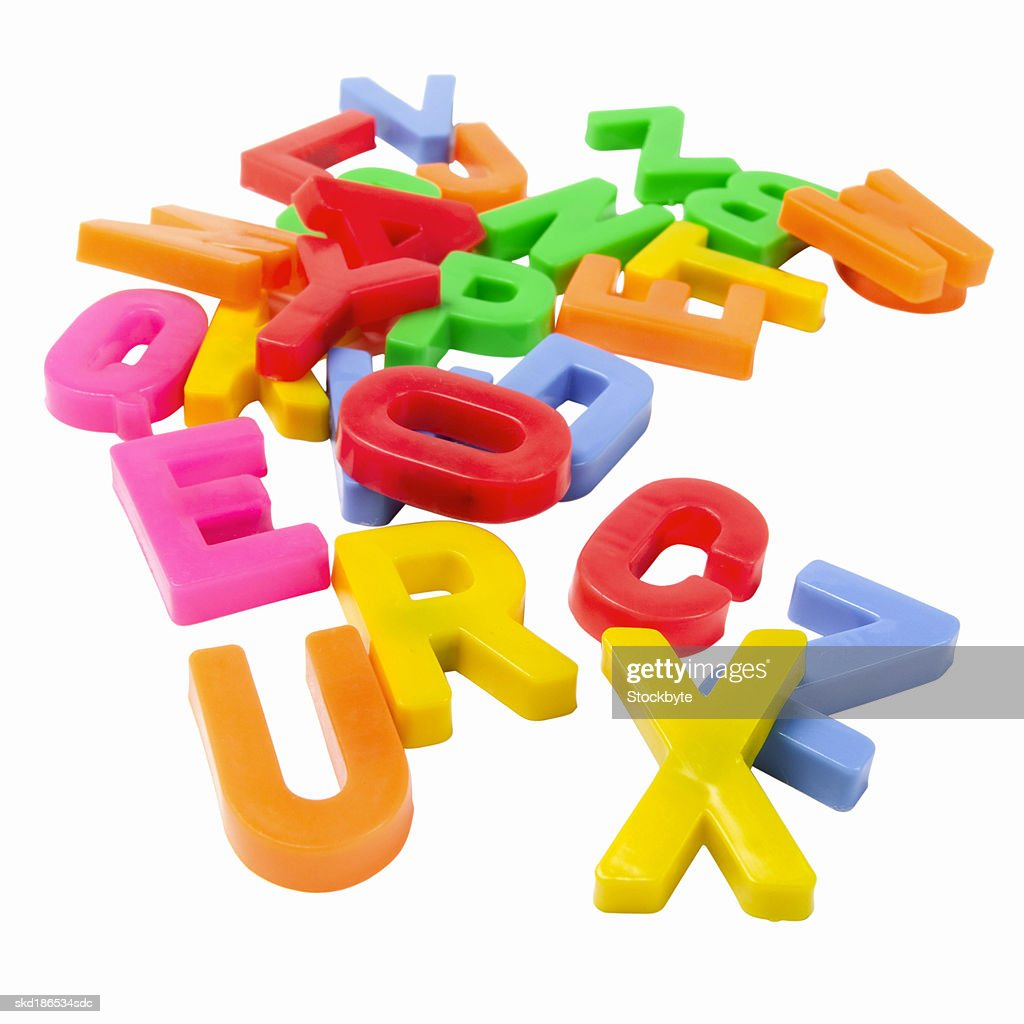 Close up of a child's toy letters : Stock Photo