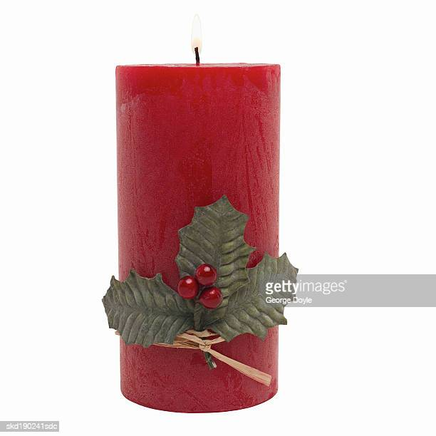 Close up of a Christmas candle