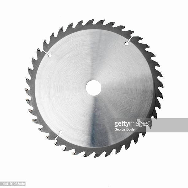 Close up of a circular blade