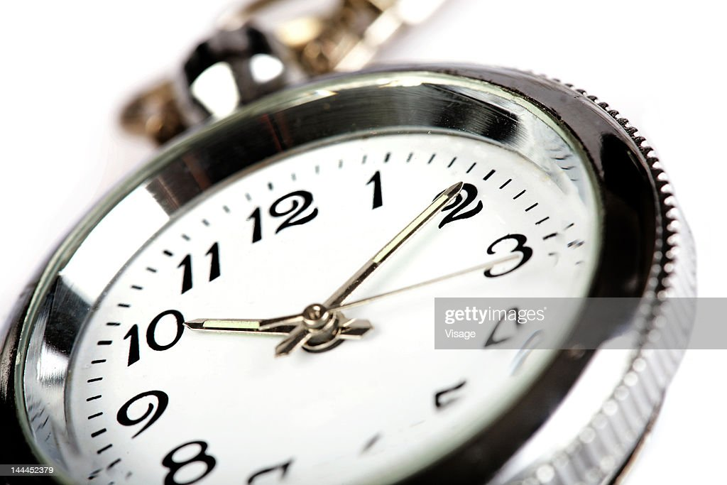 Close up of a clock, partial view : Stock Photo