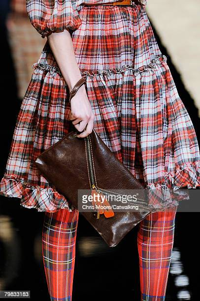 Close up of a Clutch Purse held by a model walking the runway wearing the D&G Fall/Winter 2008/2009 collection during Milan Fashion Week on the 18th...