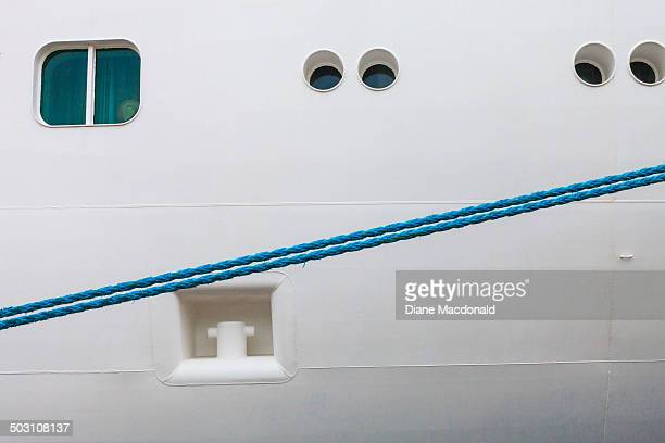 Close up of a cruise ship